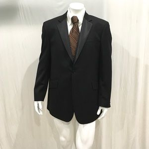 John Varvatos Men's Black One Button Blazer